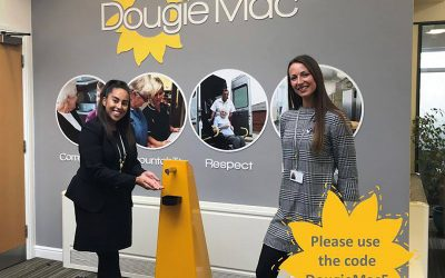 Emissco pledges 5% of future hand sanitiser dispenser sales to Dougie Mac Hospice